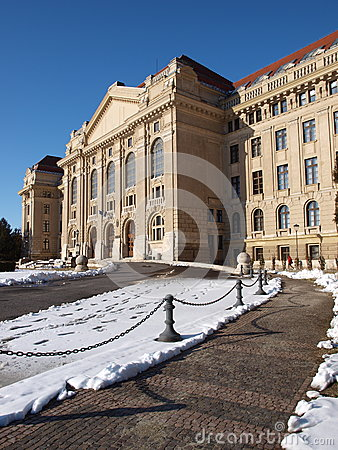 University of Debrecen in winter