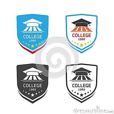 Free University Emblem Vector, Concept Of School Crest Symbol Royalty Free Stock Image - 78190276