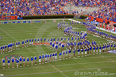 University of Florida Marching Band Editorial Stock Photo