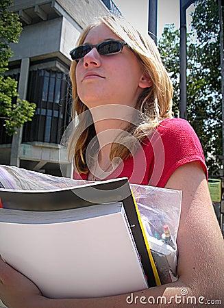 Free University Girl Stock Photos - 2872423