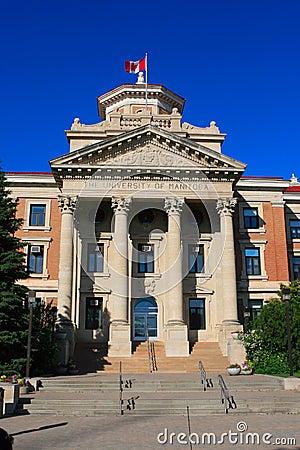 The university of Manitoba Editorial Stock Photo