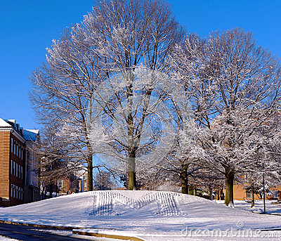 University of Maryland snow scene