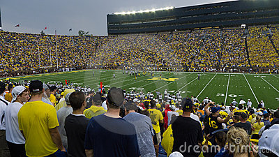 University of Michigan football Editorial Photo