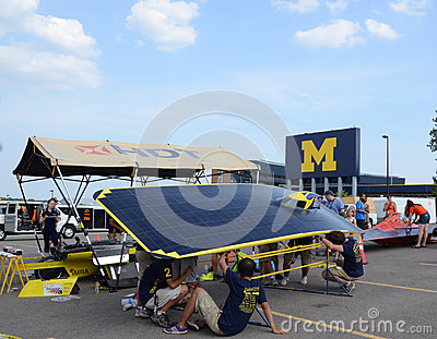 University of Michigan solar car team Editorial Stock Photo
