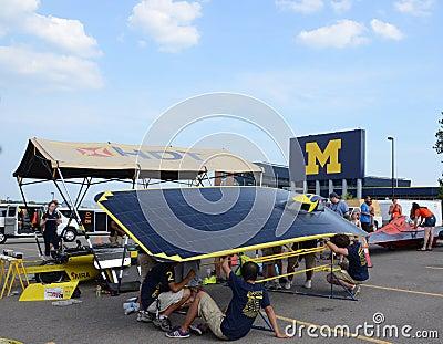 University of Michigan solar car team Editorial Stock Photo