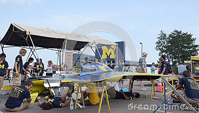 University of Michigan solar car team Editorial Stock Image