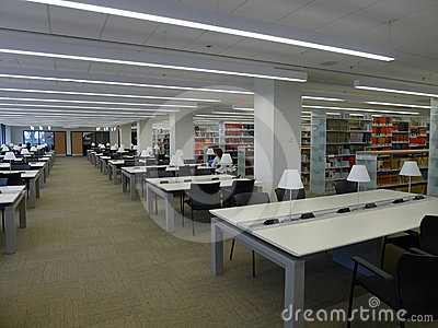 University reading room Editorial Stock Image