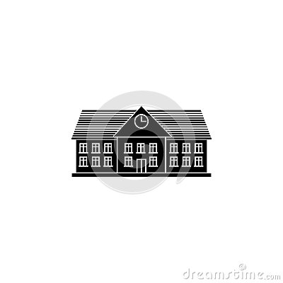 University solid icon, school and building Vector Illustration