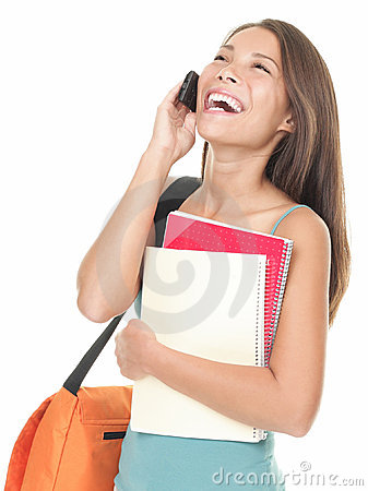 Free University Student Laughing On The Phone Stock Photo - 16282050