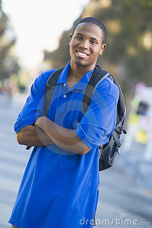 Free University Student Wearing Rucksack Stock Images - 4980904