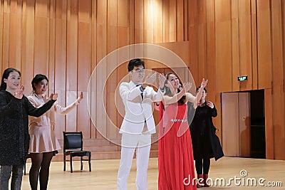 University students performing drama  Editorial Photo