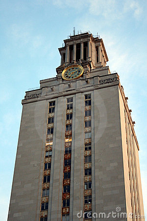 University of Texas Clock Tower Editorial Photo