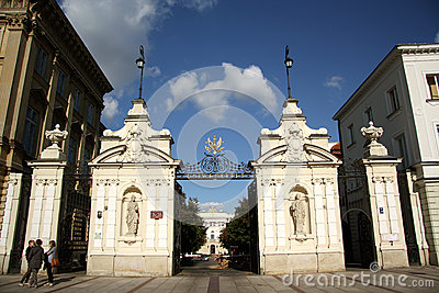 University of Warsaw main gate Editorial Stock Image