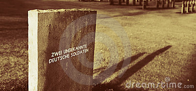 Unknown German soldiers grave