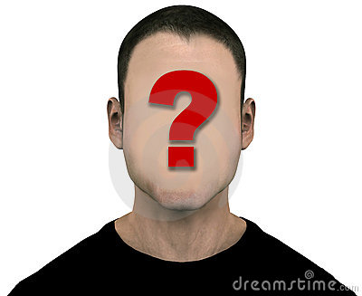 Unknown  Man Blank Empty Anonymous Face