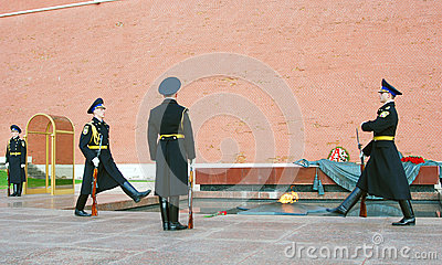 Unknown soldier tomb in Moscow Editorial Photography