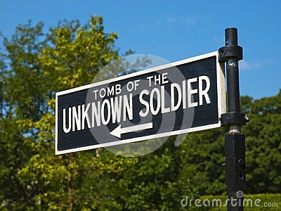 Unknown Soldier Tomb Sign