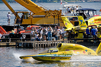 Unlimited Hydro Race Pits Editorial Stock Image