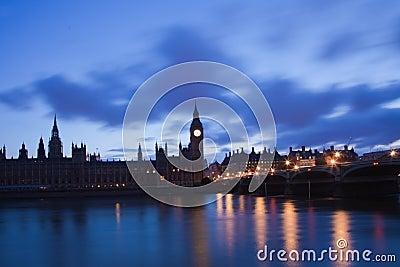 Unlit House of Parliament