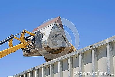 Unloading wheat in a truck