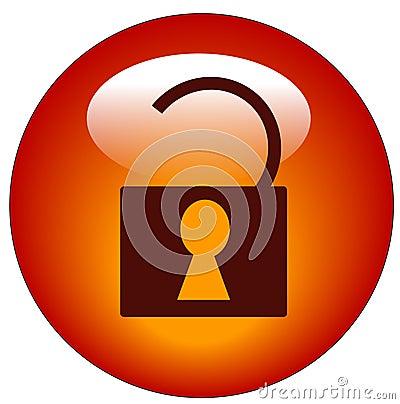 Unlocked padlock web icon