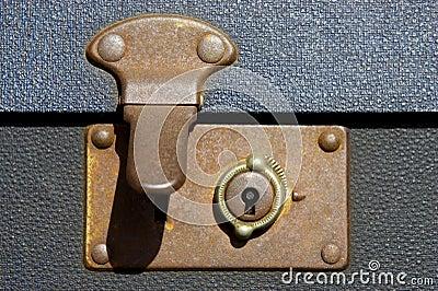 Unlocked suitcase