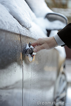 Unlocking a frozen car door
