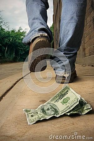 Unlucky man drops money