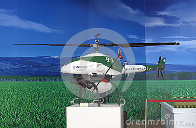 Unmanned helicopter Editorial Stock Image