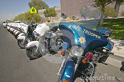 Unmanned police motorcycles Editorial Photo
