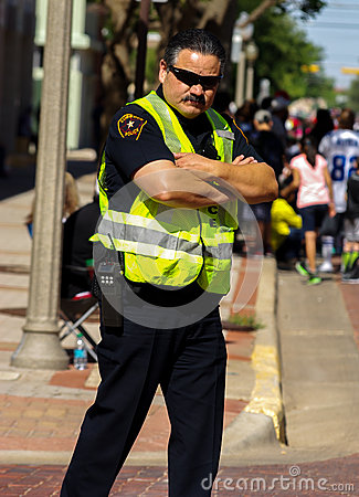 Unmovable police officer Editorial Image