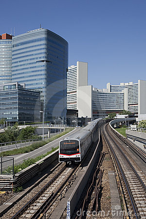 UNO city in Vienna with subway