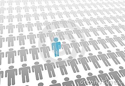 Uno si leva in piedi in su la persona in mondo di indica la gente