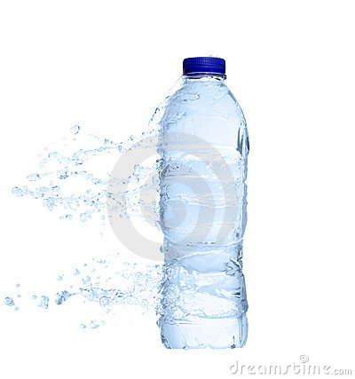 Free Unopened Plastic Water Bottle With Water Splash Royalty Free Stock Photo - 16046615