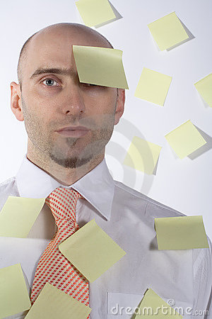 Unorganized, Forgetful Businessman