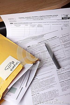 Free Unpaid Bills Stock Images - 8343164