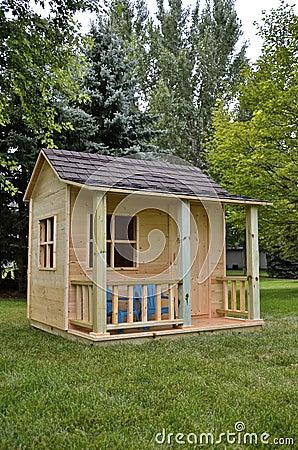 Free Unpainted Backyard Playhouse Royalty Free Stock Photos - 57642758