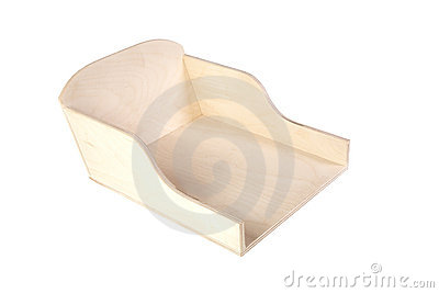 Unpainted  box with compartments isolated