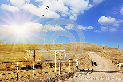 Unpaved country road