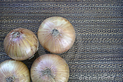 Unpeeled Onions with Background