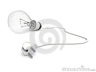 Unplugged lightbulb
