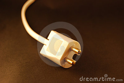 Unplugged power cord