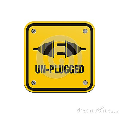 Free Unplugged Square Signs Royalty Free Stock Images - 31593199