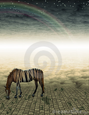 Unreal Horse in landscape