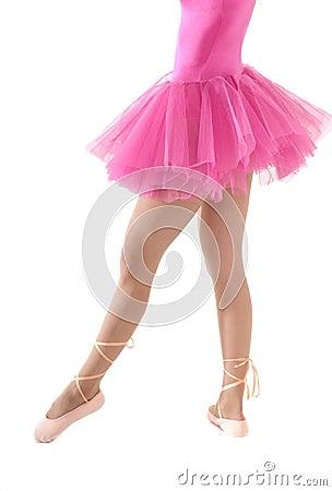 Unrecognizable female dancer body tutu isolated