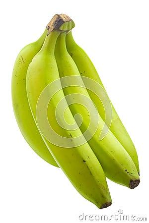Unripe Banana Stock Photos