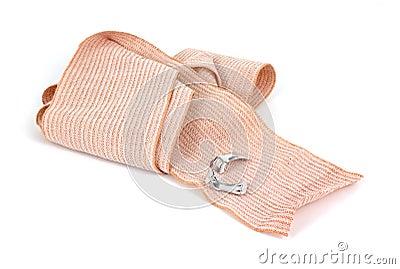 Unrolled elastic bandage