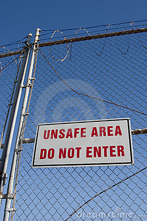 Free Unsafe Sign 1 Stock Photos - 733673