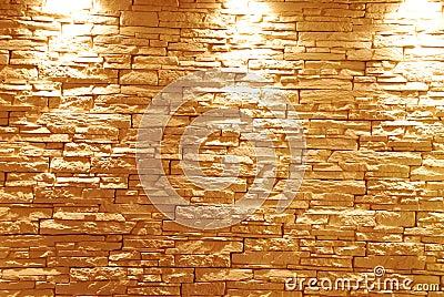Unshaped steinwand mit leuchten lizenzfreie stockfotografie bild 12399317 - Graue steinwand ...