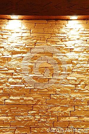 Unshaped steinwand mit punktleuchten lizenzfreie stockfotos bild 12399208 - Graue steinwand ...